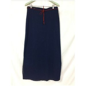 Vintage 90s Goddess Denim Maxi Skirt 18 Dark